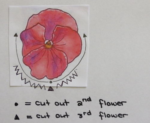 3D Pansy Card