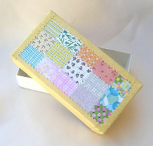 Paper Quilted Keepsake Box