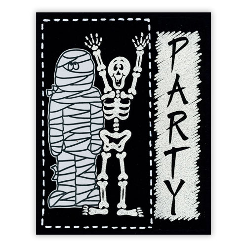 Stamped Halloween Party Invites