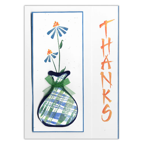 Vertical Thanks Floral Card