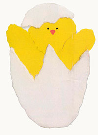 Hatching Egg Torn Paper Greeting Card