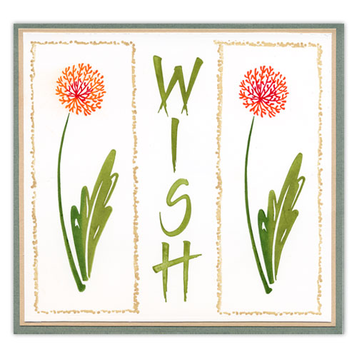 Wish Stamped Flower Card