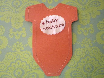 Baby Couture Shower Invitations