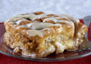 Gooey Stuffed Cinnamon Roll Bake