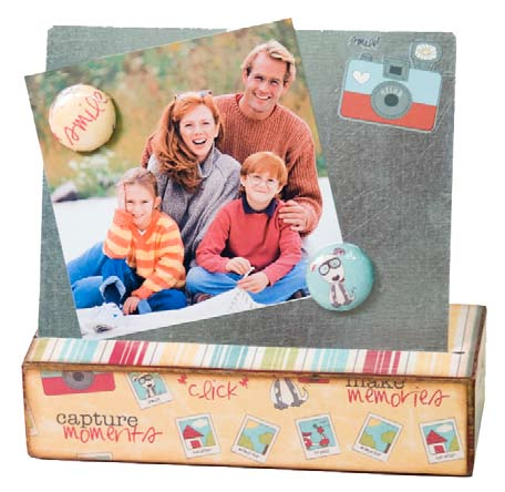 One Photo Magnet Board