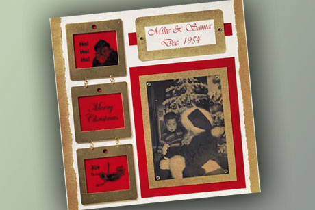 Vintage Santa Scrapbook Layout