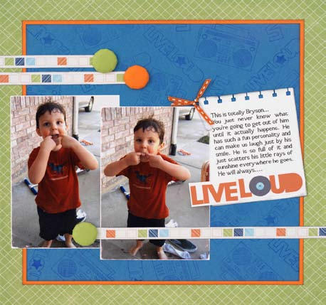 Funny Faces Scrapook Layout