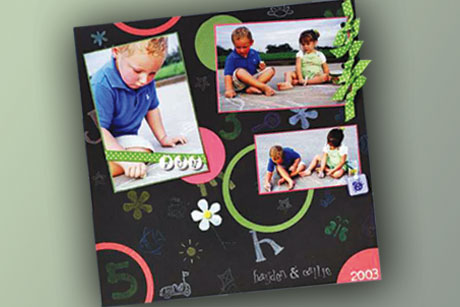 Sidewalk Coloring Scrapbook Layout
