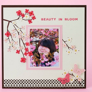 Japanese Cherry Blossom Layout