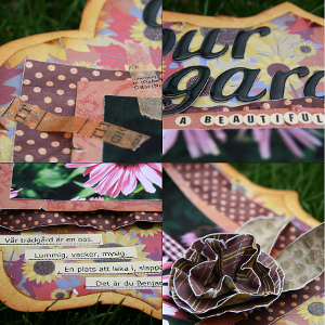Our Garden Scrapbook Layout