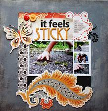 Sticky Scrapbook Layout