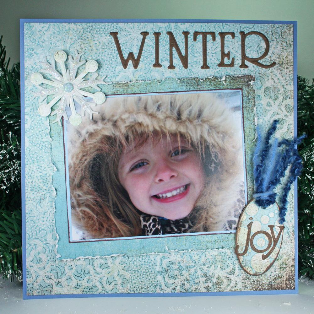 Winter Joy Scrapbook Layout