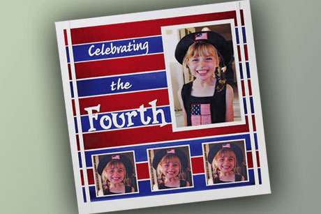 July 4th Scrapbook Layout