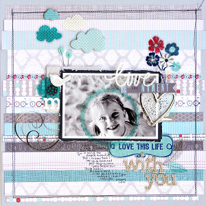love this moment scrapbook page