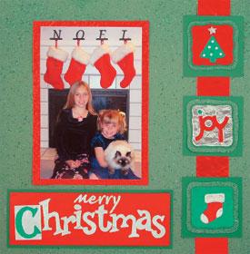 Merry Christmas Scrapbook Page Favecrafts Com