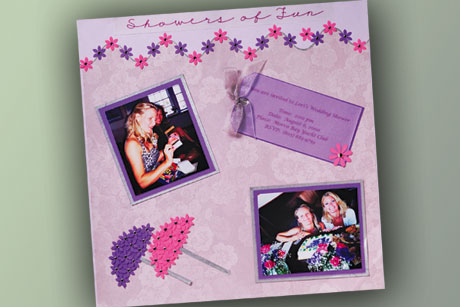 Girly Scrapbook Layout