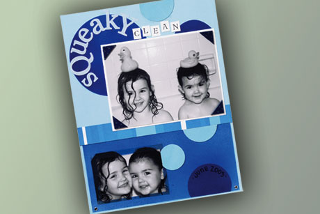 Bathtime fun Scrapbook Layout
