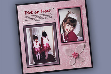 Trick or Treat Scrapbook layout