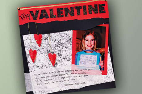 Valentine's Day Scrapbook Layout