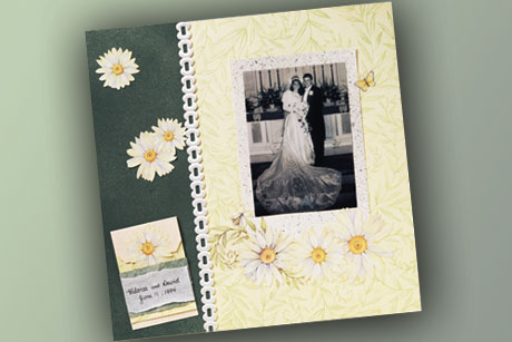 Romantic Wedding Scrapbook Layout