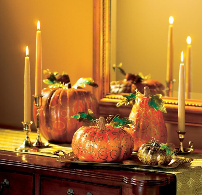 Gold Swirl Pumpkins