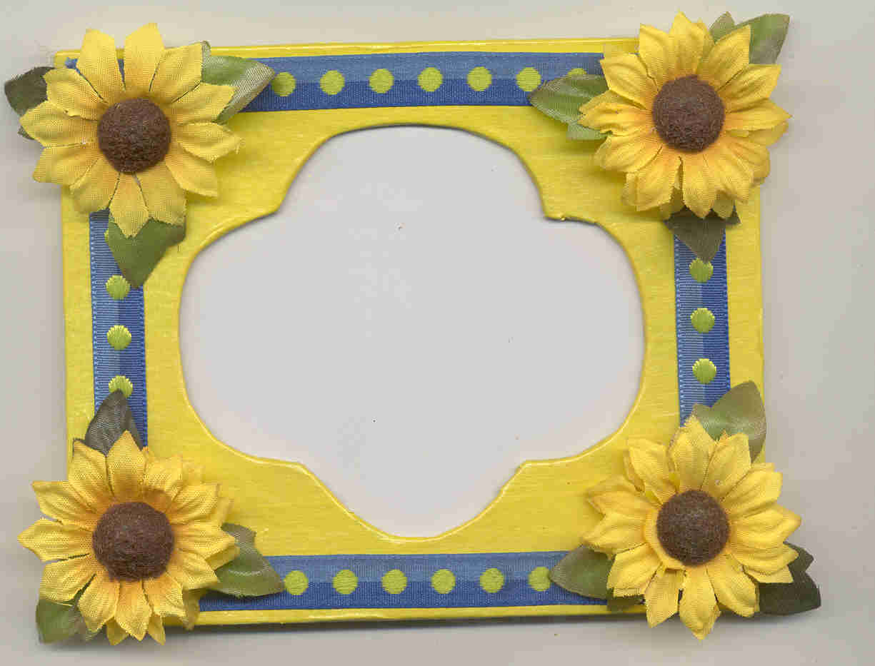 Sweet Daisy Ribbon Frame