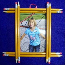 Pipe Cleaner Butterflies Pencil Frame