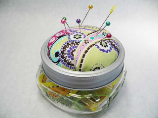 Canning Jar Pin Cushion
