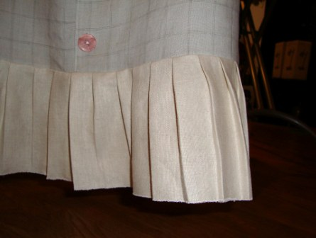 Finishing Pleat