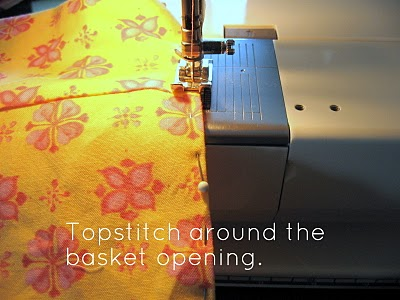Topstitch basket