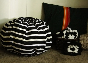 Recycled Ruf Poufs