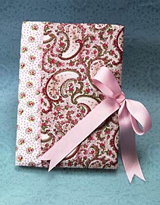 Pretty Fabric and Ribbon Notebook
