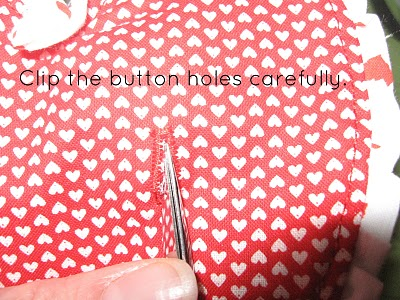 Cliping Button Holes