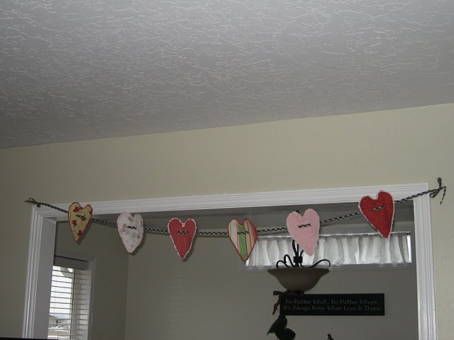 Ruffle Heart Banner FInished