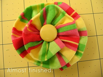 Ruffled Fabric Flower Pin step 13