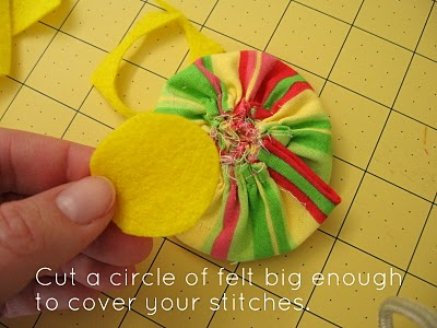 Ruffled Fabric Flower Pin step 14
