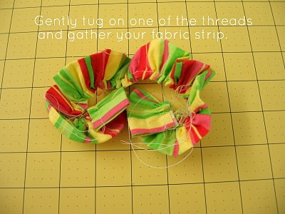 Ruffled Fabric Flower Pin step 4