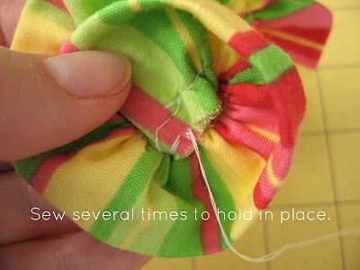 Ruffled Fabric Flower Pin step 6