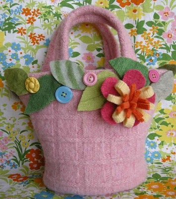 Felt Flower Mini Tote