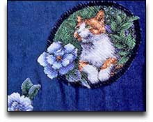Chenille Layered Applique Sweatshirt Cat