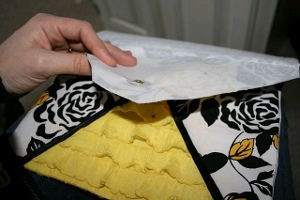 Ruffled Envelope Clutch