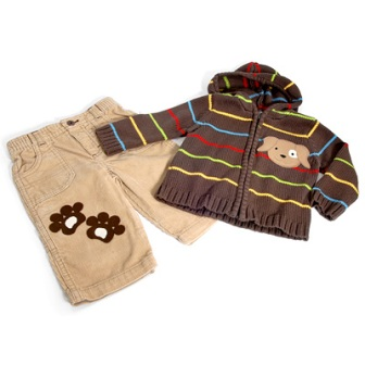 Puppy Embellished Baby Clothes