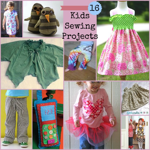 16 Kids Sewing Projects