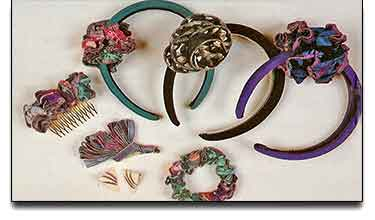 Sewn Hair Accessories and Earrings