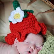 Crochet Strawberry Hat AllFreeCrochet.com