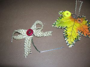 silk leaf ornaments