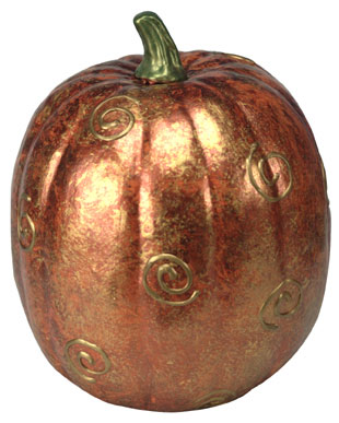 Swirl Decorative Painted Pumpkin