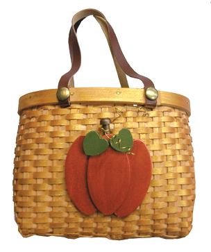 Wood Pumpkin Picnic Basket