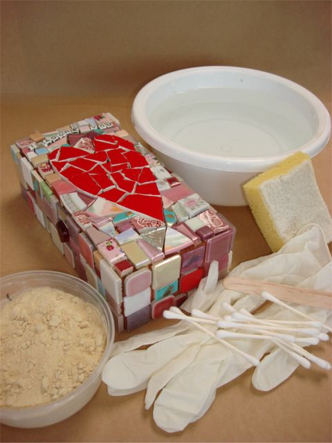 How to Grout Mosaic 1