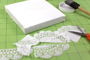 Lacy Doily Valentine Canvas